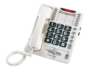 Stock image of crystaltone amplified phone