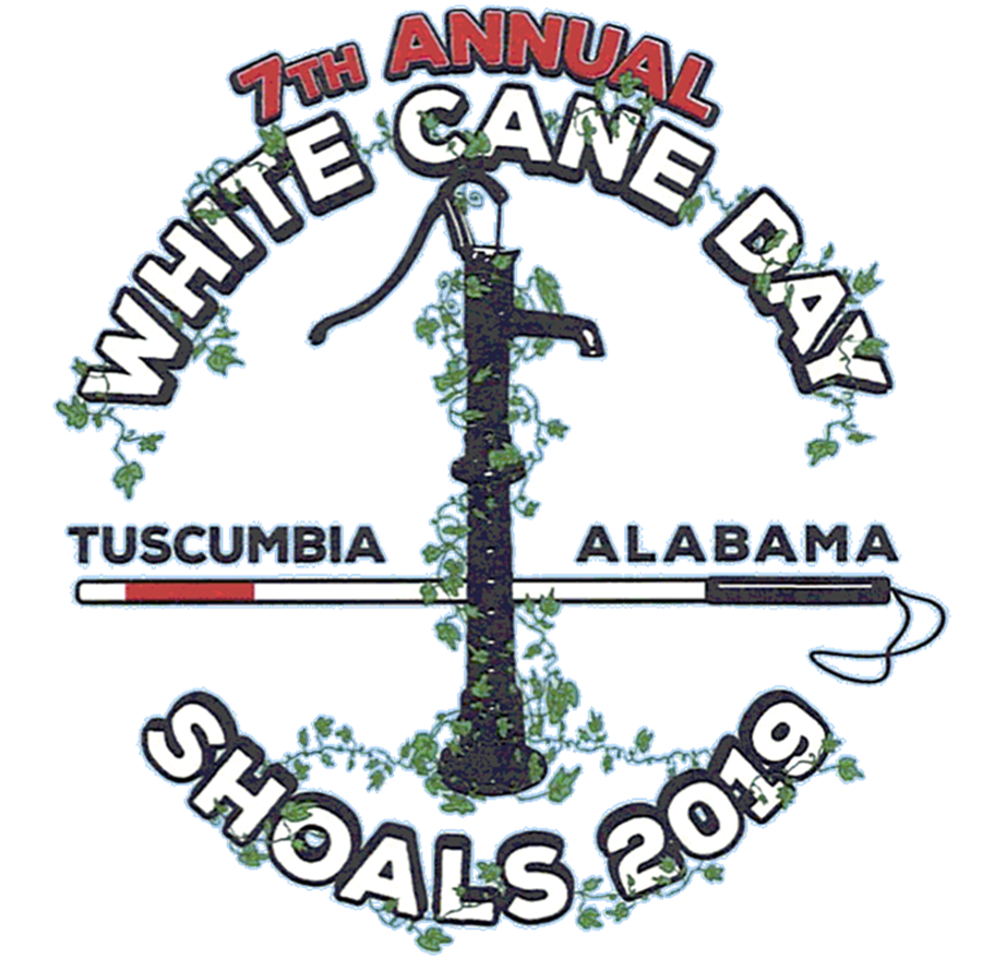 Alabama White Cane Day Logo 2019, Tuscumbia AL